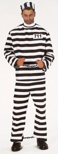 Convict Prisoner Costume
