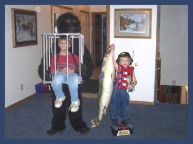 Gorilla-Holding-a-Cage-and-Fisherman-Costumes