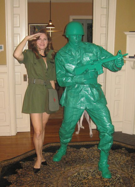 Green Plastic Army Man Costumes
