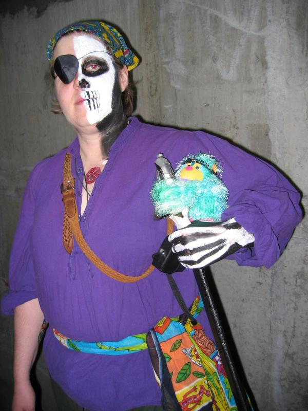 Half Dead Pirate Costume