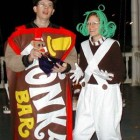 Wonka Bar and Oompa Loompa Costumes