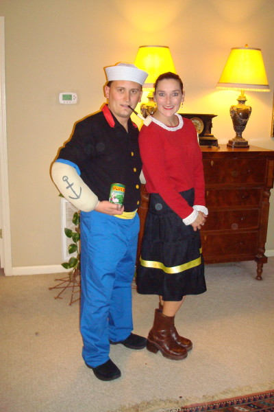 Popeye olive oyl costumes costume pop i usually start planning my costume 4 months in advance i like to come up with a unique costume that you cant buy in the store solutioingenieria Choice Image