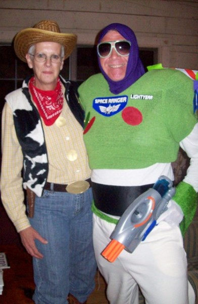 We bought the blow-up wings for Buzz but made the rest of it from items found at local thrift stores. We dressed as Woody and Buzz for the semi-annual ...  sc 1 st  Costume Pop & Buzz Lightyear Costume | Costume Pop