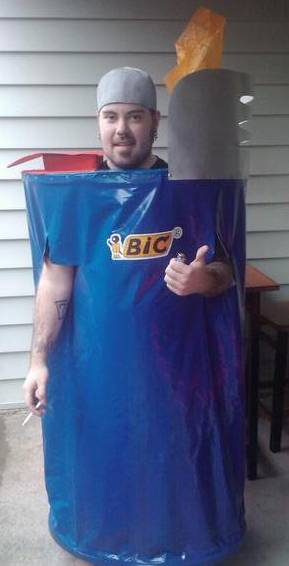 How To Make A Bic The Lighter Costume Costume Pop