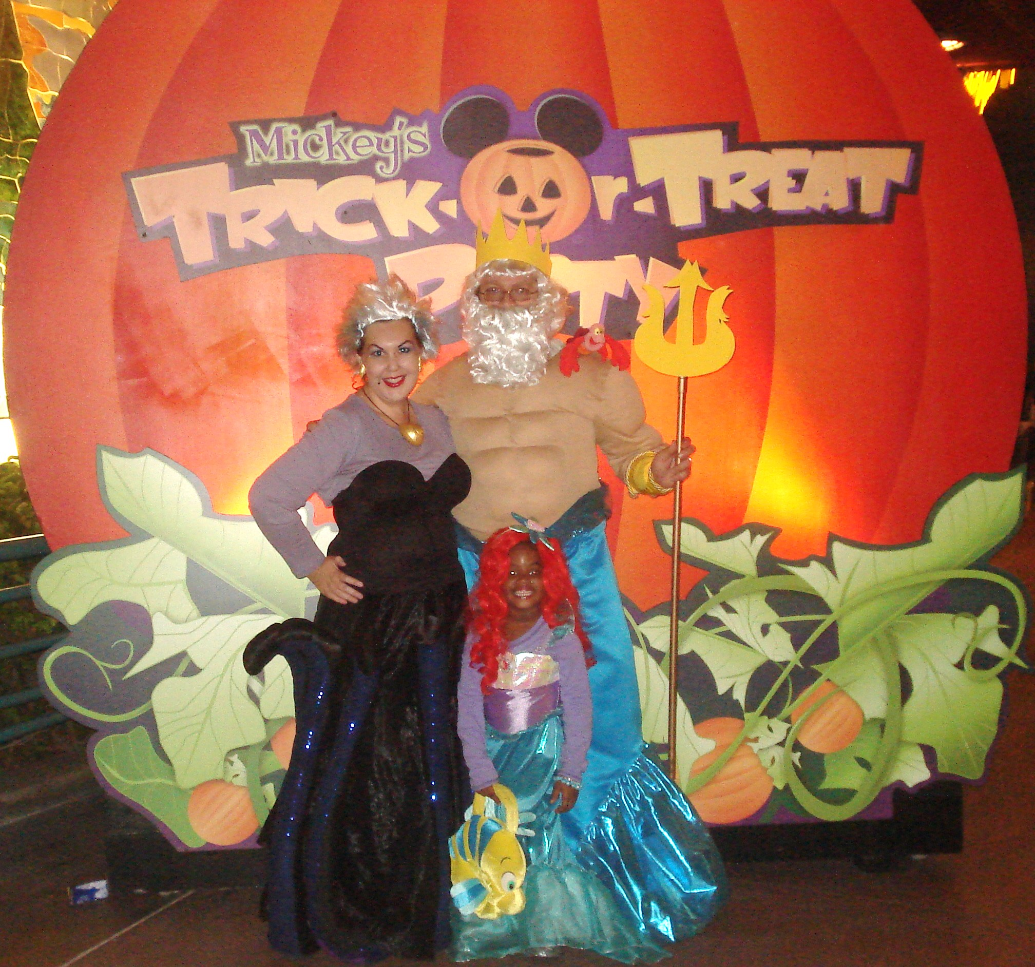 Ursula the Sea Witch and King Triton costumes