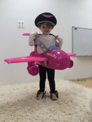 This is my two year olds pink airplane named  Fly Girl  It has working jet sound two wing strobes and a flashing red beacon on the tail. & Fly Girl Costumes | Costume Pop
