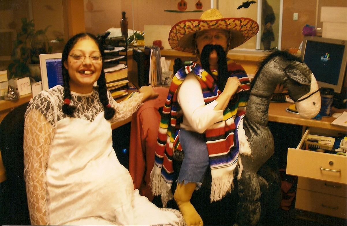 Hillbilly Bride and Juan Valdez costumes