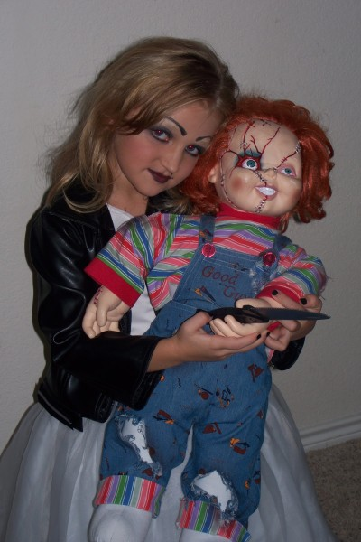 7 yr old Taylor became Chucky the doll from the horror movieu0027s bide Tiffany  sc 1 st  Costume Pop & Bride of Chucky Costumes | Costume Pop