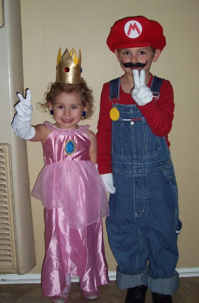 My son loves Mario Bros and asked if he could be Mario for Halloween. It was simple to put together and I found a pattern to make the hat.  sc 1 st  Costume Pop & Mario and Princess Peach Costumes | Costume Pop