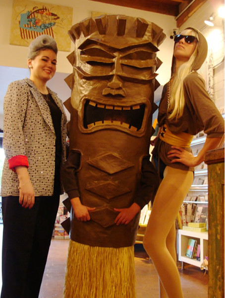 This year we created a Tiki costume out of papier macheu0027. When worn by my son (who is 9 yrs old) he was over 6 feet tall. I made an interior harness ...  sc 1 st  Costume Pop & Tiki Man Costumes | Costume Pop