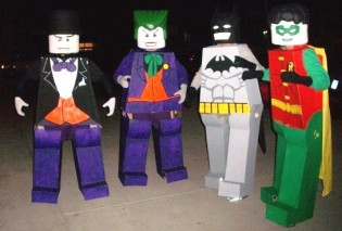 Lego Batman, Robin, Joker and Penguin Costumes