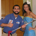 Billy Mays w/ his Oxiclean Costumes