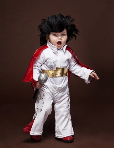 My husband and I are big elvis fans so here's our little guy Conrad in costume.