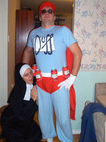 The official Beer mascot of the Simpsons Duffman makes a hilarious and recognizable TV costume idea.  sc 1 st  Costume Pop & Simpsons Duffman Costumes | Costume Pop