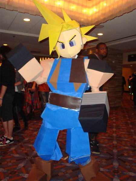 Polygon Cloud Strife Final Fantasy 7 Costumes