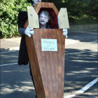 Frankenstein Carrying Coffin Costumes