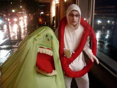 Yeah a ghostbusters logo and Slimer costume ...  sc 1 st  Costume Pop & Ghostbusters Logo and Slimer Costumes | Costume Pop