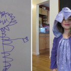 Mom Makes Monster Costume from Kid's Drawing Costumes