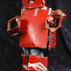 Red Cardboard Robot Costumes