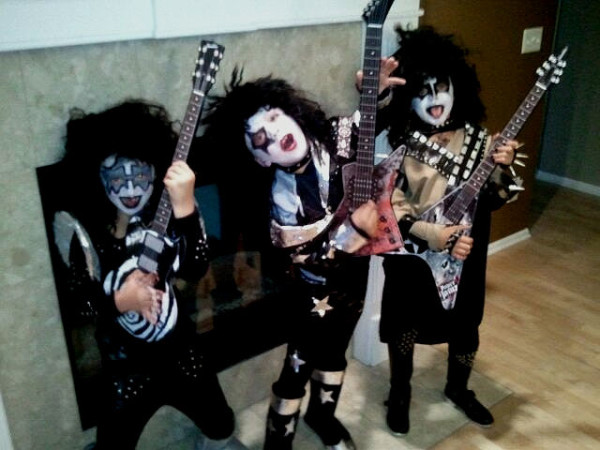 homemade costumes for the kiss band