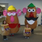 Mr. & Mrs. Potato Head and their Tater Tots Costumes