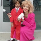 3 year old Run Burgundy Anchorman Costumes
