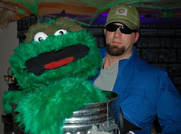 Oscar The Grouch Costume Costume Pop