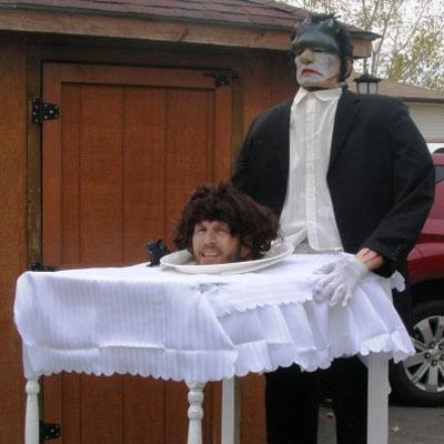 Head on the Platter Costume