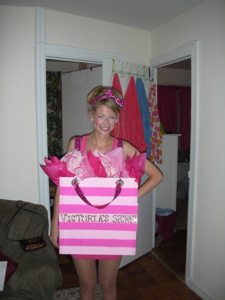 Talk about picking a girly yet sexy costume! This just might be a must. Hereu0027s what Danielle had to say about her costume  sc 1 st  Costume Pop & Victoria Secret Shopping Bag Costumes | Costume Pop | Costume Pop