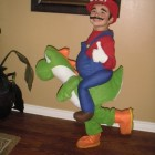Super Mario Riding Yoshi Costumes