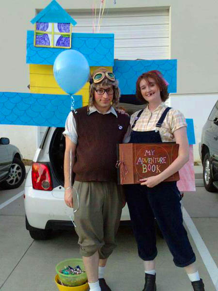 We Love Pixar S Up So Thought It Would Be Fun To Go As The Young Ellie And Carl I Ped Around Local Thrift Find Overalls