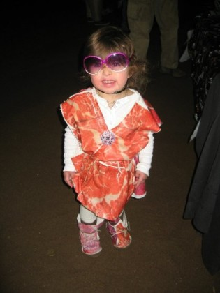 Baby Gaga in Her Meat Dress Costumes