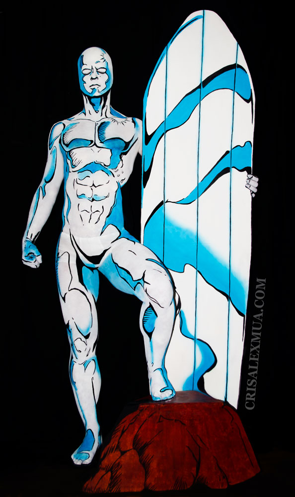 Silver Surfer Body Paint