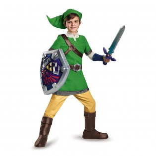 Legend of Zelda: Link the Elf Deluxe Kids Costume - CostumePop